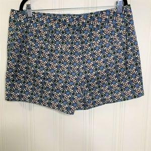 Ann Taylor Loft Floral Print Shorts Sz 12
